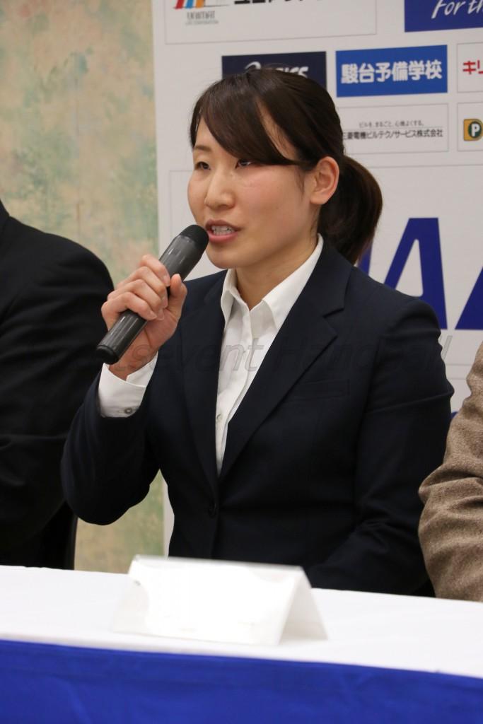 地元大会への熱い思いを語る北國・横嶋(か)選手
