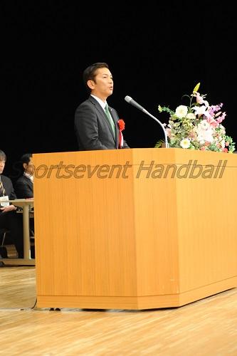 松本浦添市長が選手たちへエールを送った