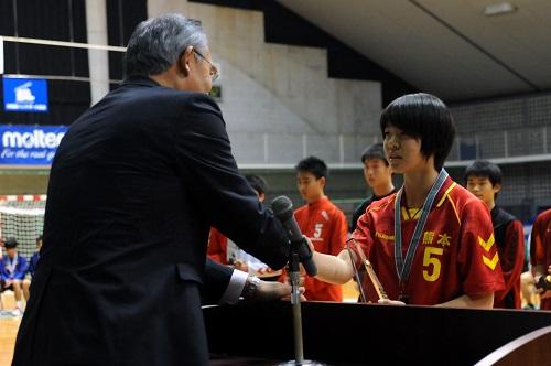 オリンピック有望選手には180cmの大型ポストの橋口(熊本)が選出された