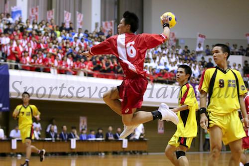チーム最多タイの6得点をあげた学法石川・大内。価値ある勝利に貢献した